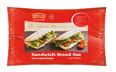 Moilas kaurapalaleipä 4kpl/300g gluteeniton pakaste