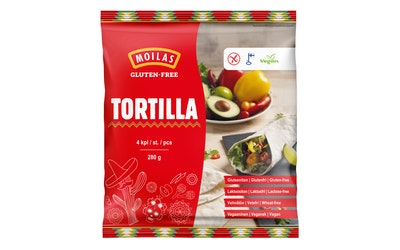 Moilas Tortilla 4kpl/280g gluteeniton
