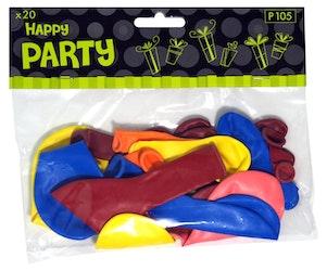 Happy Party ilmapallot 20 kpl lajitelma