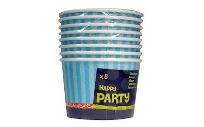 Jäätelökippo ja lusikka 8kpl sininen