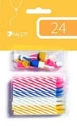 Kakkukynttilä 4-väri 24kpl
