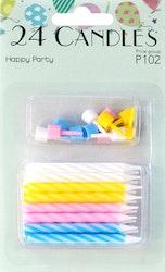 Party kakkukynttilä 4-väri 24kpl