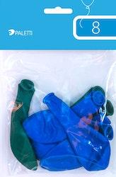 Ilmapallo vihreä/sininen 8kpl
