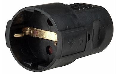 Airam jatkopistorasia 1-os IP20 musta