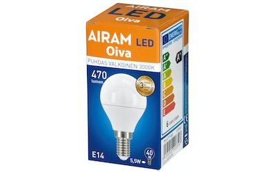 Airam Oiva led mainos 6W E14 470 lm3000K