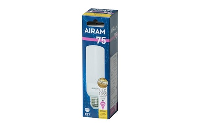 Airam led tubular E27 9,5W 1055lm 827