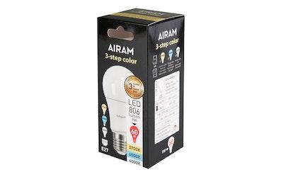Airam led vakio 3Step Color E27 9W 806lm