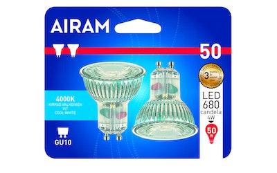 Airam led lasi kohde GU10 4W 400lm 2kpl