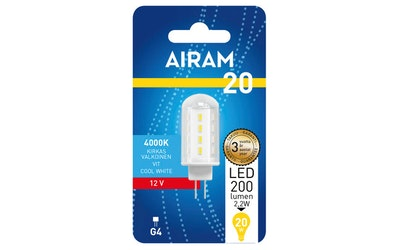 Airam led polttimokupuinen 12V 2,2W G4-kanta 220lm