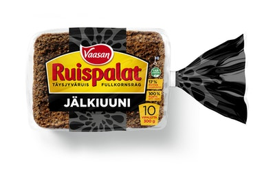 VAASAN Ruispalat Jälkiuuni 300 g täysjyväruisjälkiuunileipä
