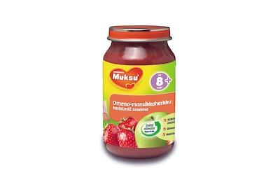 Muksu omena-mansikkaherkku, hedelmiä soseena 200g 8 kk