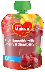 Muksu smoothie 80g 8 kk kirsikka hedelmä mansikka