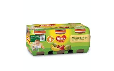 Muksu mangoyllätys, hedelmiä soseena 6x125g 4-6 kk