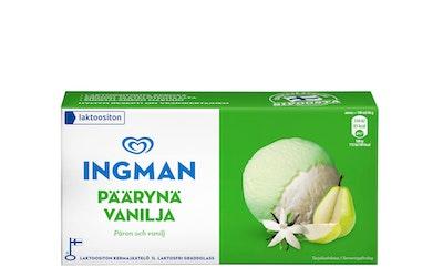Ingman Laktoositon päärynä-vaniljakermajäätelö 1L