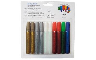 Kimalleliima 10 x 9,5 ml jouluiset värit