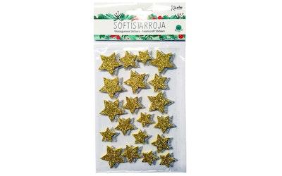 Glitter softistarra tähdet kulta/hopea