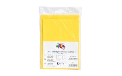 Karto askartelukortti + tarrakuori, keltainen