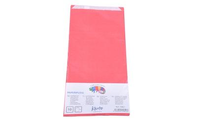 Paperipussi 12 x 28 cm, 1 kg punainen 10 pss
