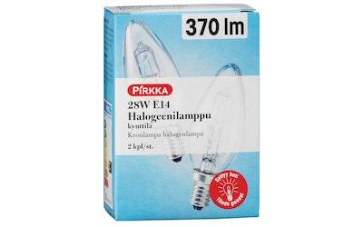 Pirkka 28W E14 halogeenilamppu kynttilä 370 lm 2kpl