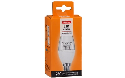 Pirkka led-lamppu 3,5W E14 kynttilä kirkas