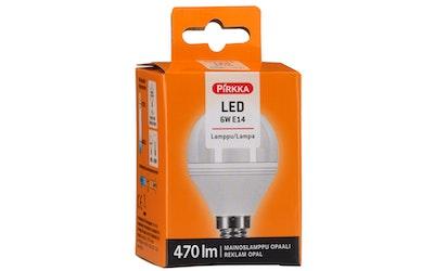 Pirkka led-lamppu 6W E14 mainoslamppu opaali