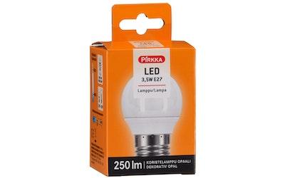 Pirkka led-lamppu 3,5W E27 koristelamppu opaali