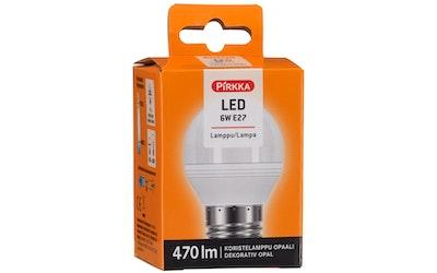 Pirkka led-lamppu 6W E27 koristelamppu opaali