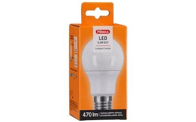 Pirkka led-lamppu 5,5W E27 vakiolamppu opaali