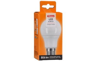 Pirkka led-lamppu 9,5W E27 vakiolamppu opaali
