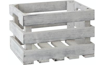 Pirta puulaatikko harmaa L-koko