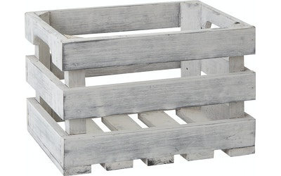 Pirta puulaatikko harmaaM-koko