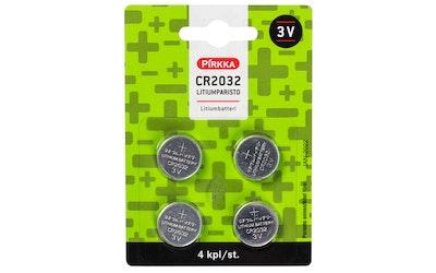 Pirkka litiumparisto CR2032 4kpl