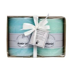 Puttipaja kynttilä lahjapakkaus 2kpl kesäsade+sademetsä
