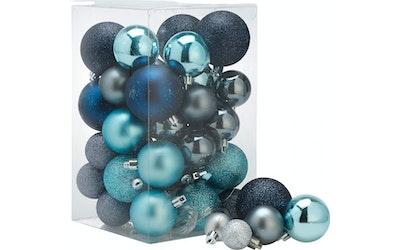 Joulupallot 50 kpl sininen lajitelma