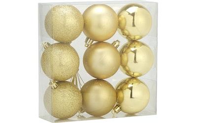 Joulupallo 9 kpl kulta