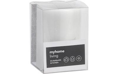 myhome LED pöytäkynttilä 7,5 x 10 cm valkoinen