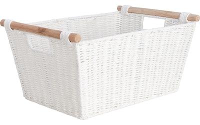 myhome paperinarukori 43 x 30 x 20 cm valkoinen
