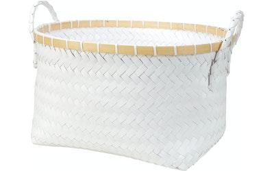 Pirta kori Bamboo valkoinen 38cm