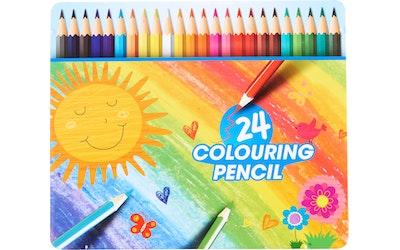 myhome värikynät 24 kpl metallikotelossa