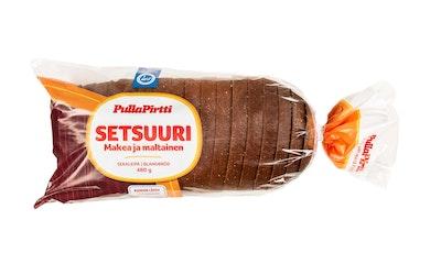 PullaPirtti Setsuuri 480g siiv lakton kuitupit sekaleipä