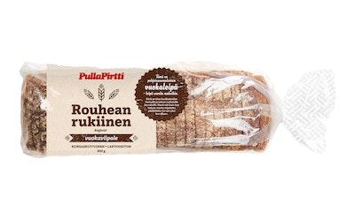 PullaPirtti Rouhean rukiinen vuokaviipale 850 g laktoositon runsaskuituinen viipaloitu ruisvuoka