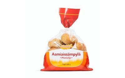 PullaPirtti Aamiaissämpylä monivilja 7/420g halk lakton kuitupit moniviljasämpylä