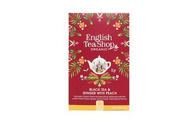 English Tea Shop tee 20ps inkivääri-persikka luomu
