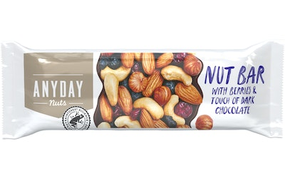 Anyday Nut Bar with Berries 44g pähkinäpatukka