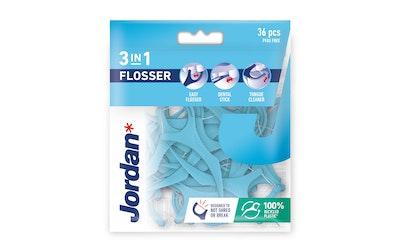 Jordan 3-in-1 Flosser hammaslankain 36kpl