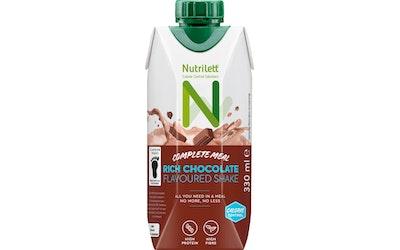 Nutrilett 330 ml Rich Chocolate 30 % vähemmän sokeria Smoothie ateriankorvike