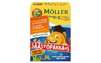 Möller 86g Omega-3 Pikkukalat hedelmänmakuinen omega-3-rasvahappo-D-vitamiinivalmiste