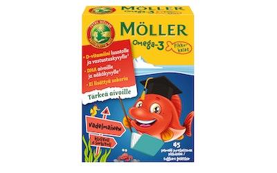 Möller Omega3 Pikkukalat vadelma 45kpl