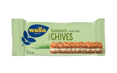 Wasa Sandwich cream cheese&chives näkkileipä 37g