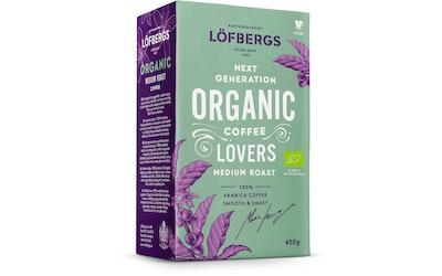 Löfbergs Organic medium roast 450g suodatin jauhatus